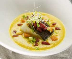 Prøv også Gulrotsuppe med torsk, chili og ingefær.