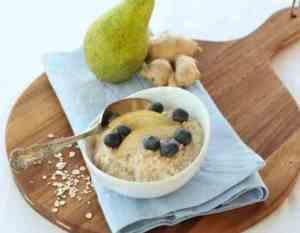 Prøv også Havregrøt med pære og ingefær.