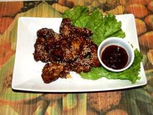 Prøv også Kinesisk sesam kylling(sesame chicken).