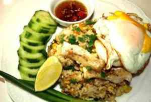 Prøv også Kao Pad(fried rice) med fisk.