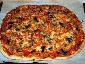 Prøv også Pizza med marinert kylling og sopp.