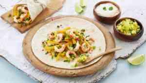 Prøv også Fajitas med reker og mangosalsa.
