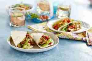 Prøv også Pulled-chicken-taco med fersk tomatsalsa.