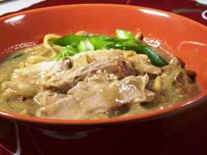 Prøv også Szechuan pork noodle soup.