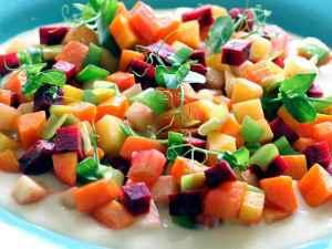 Prøv også Wokede rotgrønnsaker med parmesansaus.