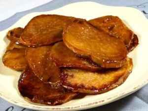Prøv også Frityrstekte søtpoteter som snacks (kamote que).