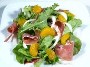 Prøv også Mandarinsalat med spekeskinke.