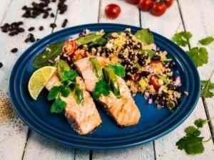Prøv også Laks med avokadofyll og quinoa.