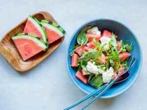 Prøv også Burrata og vannmelonsalat.
