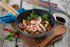 Prøv også Wok med torsk og reker.