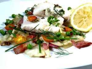 Prøv også Ovnsbakt torsk med kål og bacon.