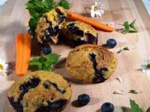 Prøv også Muffins med gulrot og blåbær.
