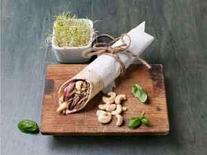 Prøv også Fullkornswrap med reinskav og cashewnøtter.