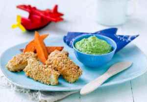 Prøv også Barnas sprø fiskepinner med ertepuré og stekt søtpotet.