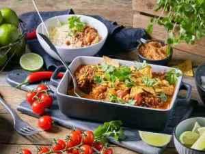 Try also Tacogryte med bønner og tomat.