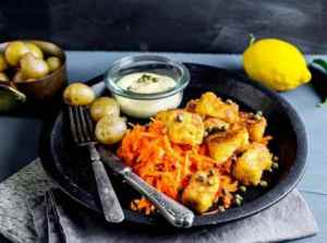 Prøv også Fiskenugget med revne gulrøtter og remulade.