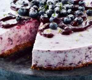 Prøv også Ostekake med blåbær og lime.