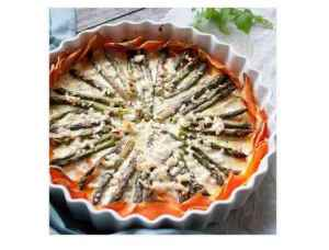 Prøv også Søtpotetpai med asparges.