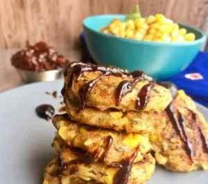 Prøv også Panir corn tikki - Indisk vegetarburger.