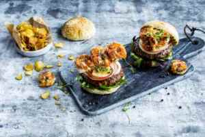 Prøv også Chorizoburger med scampi.