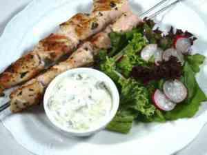 Prøv også Kylling souvlaki med tzatziki.