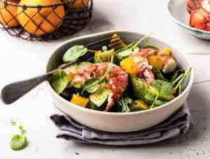 Prøv også Hummersalat med mango og appelsin.