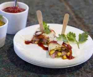 Prøv også Sild med maissalsa og currysaus.