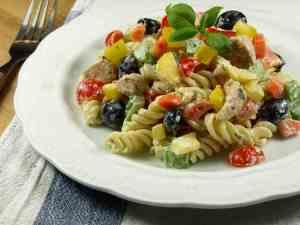 Prøv også Kremet pastasalat med kylling og fusilli.