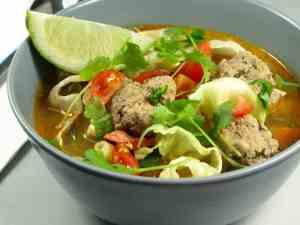 Prøv også Vinter Meksikansk suppe med kjøttboller.
