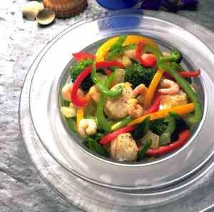 Prøv også Wokpanne med fisk og reker.