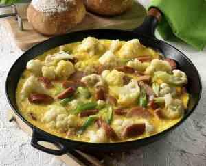 Prøv også Omelett med blomkål og purre.