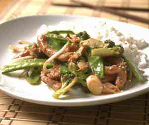 Prøv også Marinert svinefilet med wokgrønnsaker.