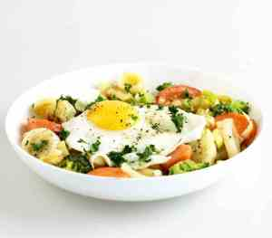 Prøv også Grønnsakpytt med poteter.