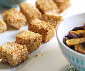 Prøv også Grillspyd med laks, rotgrønnsaker og tzatziki.