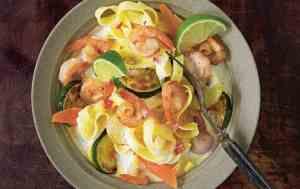Prøv også Kremet tagliatelle med scampi og grønnsaker.