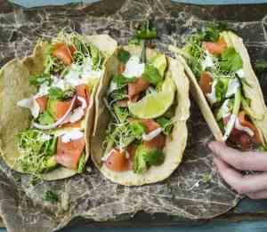 Prøv også Tortilla med røkt laks.