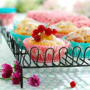 Prøv også Bær-/fruktmuffins med marsipan.