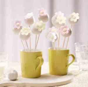 Prøv også Cake pops med blomster.