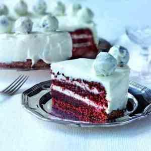 Prøv også Red velvet cake.