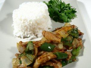 Prøv også Ris med stekt kylling med sitrongress,ingefær og c.