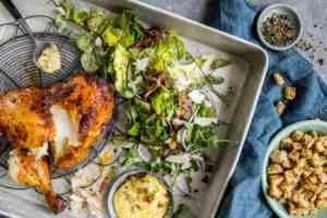 Prøv også Cæsarsalat med grillet kylling.