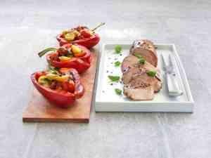 Prøv også Glasert svinefilet med fylte paprika.