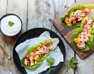 Prøv også Pulled salmon taco i hjertesalat.