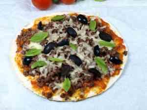 Prøv også Tortillapizza med oliven og kjøttdeig.