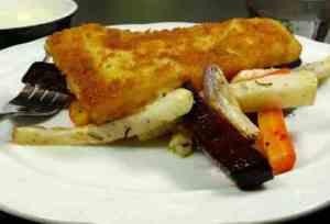 Prøv også Sprøbakt torsk med ovnsbakte grønnsaker.