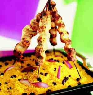 Prøv også Kalkunsatay med couscous.