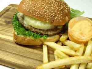 Prøv også Hawaiiburger med pommes frites.