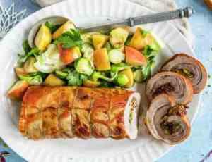 Prøv også Porchetta med stekt eple og rosenkål.