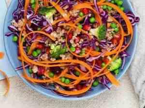 Prøv også Vintersalat med rødkål og granateple.