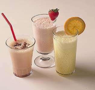 Milkshake med fantasi oppskrift.